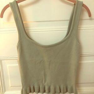Scoop neck knit tank